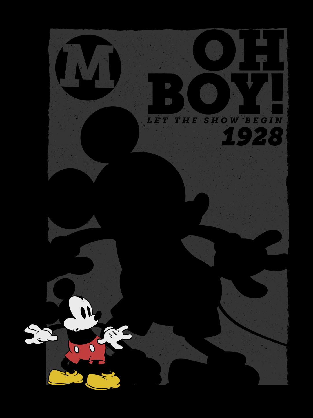 """Disney Character Mickey Mouse 1/"""" W x 2/"""" T in Red Shorts White Gloves"""